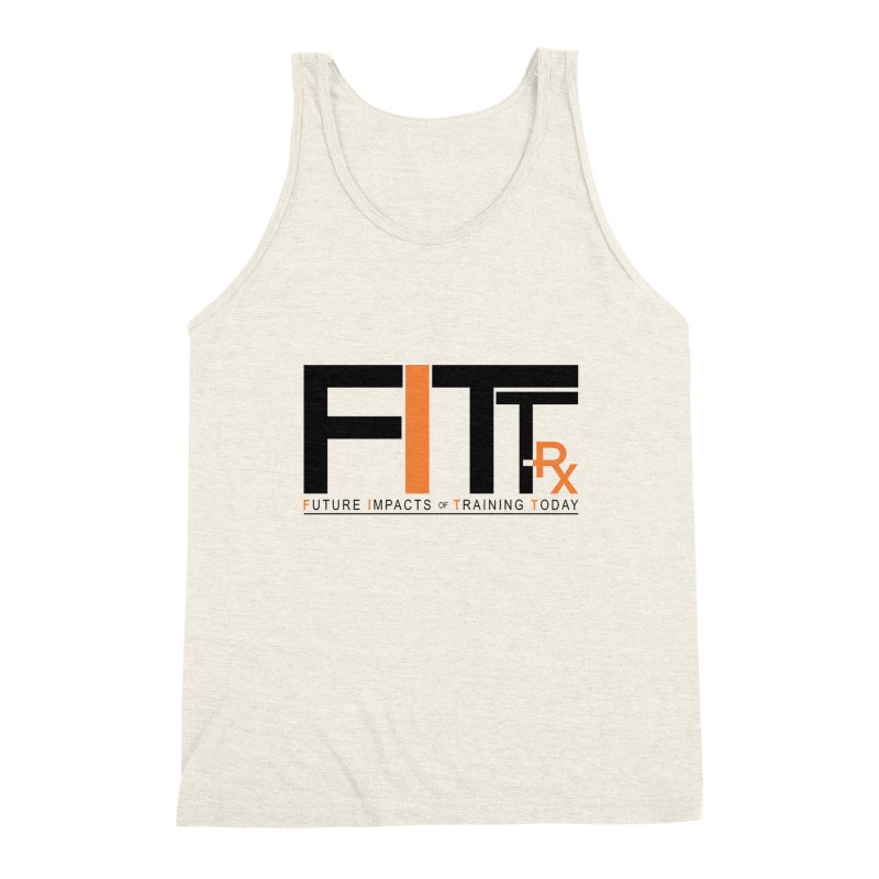 FITT-RX black logo Men's Triblend Tank by FITT-RX's Apparel Shop