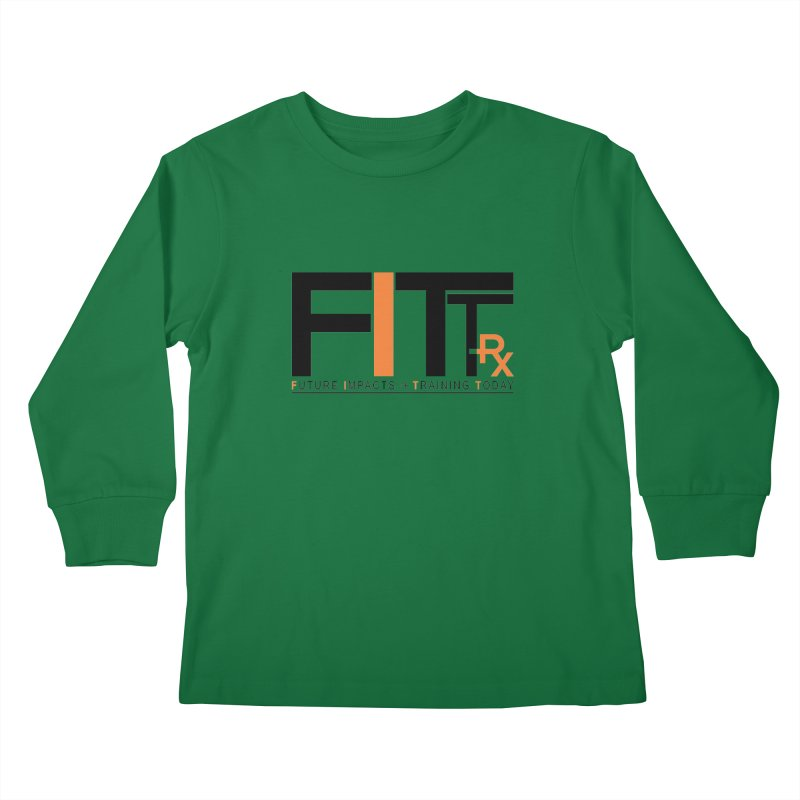 FITT-RX black logo Kids Longsleeve T-Shirt by FITT-RX's Apparel Shop