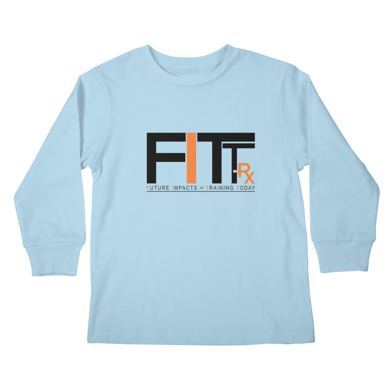 FITT-RX black logo Kids Longsleeve T-Shirt by FITT-RX's Apparel Shop