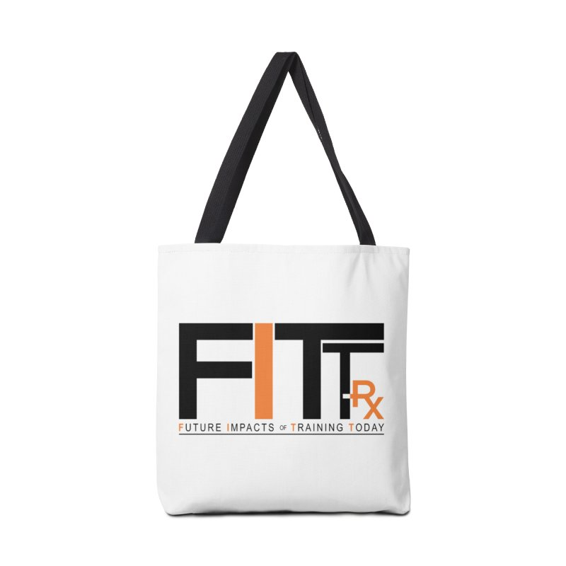 FITT-RX black logo Accessories Tote Bag Bag by FITT-RX's Apparel Shop