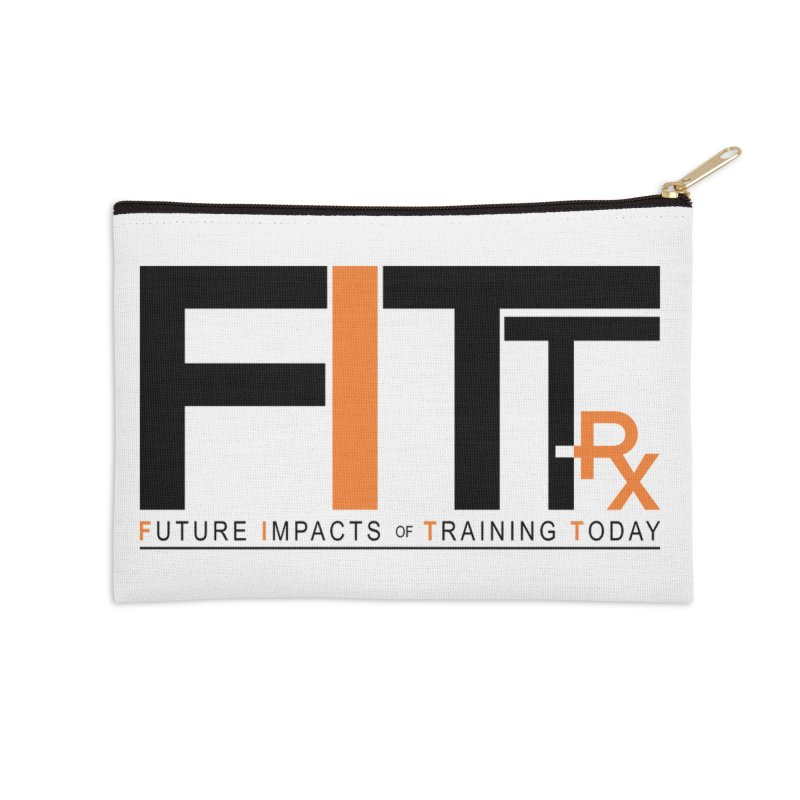 FITT-RX black logo Accessories Zip Pouch by FITT-RX's Apparel Shop