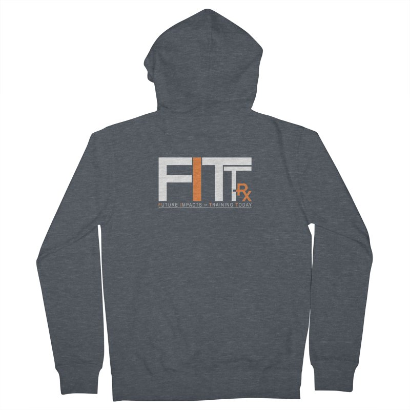 FITT-RX white logo Women's Zip-Up Hoody by FITT-RX's Apparel Shop