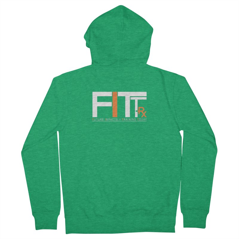 FITT-RX white logo Men's Zip-Up Hoody by FITT-RX's Apparel Shop