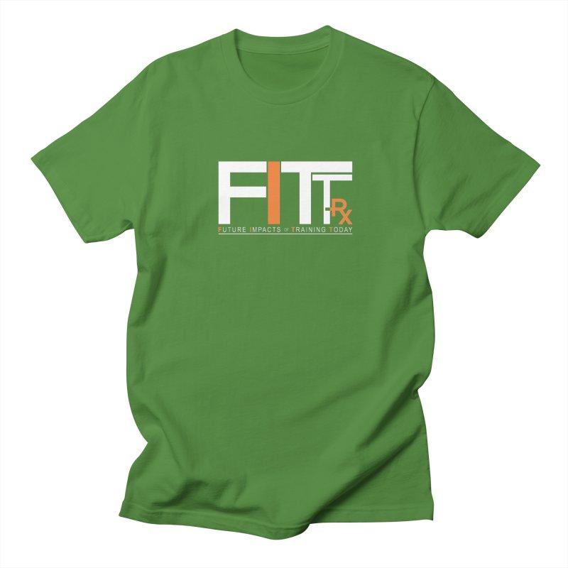 FITT-RX white logo Men's T-Shirt by FITT-RX's Apparel Shop