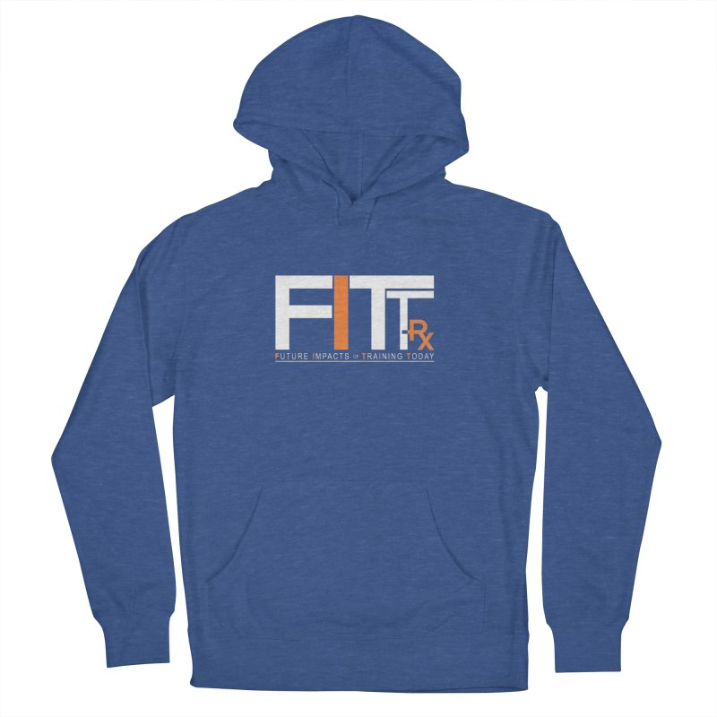 FITT-RX white logo in Men's Pullover Hoody Heather Royal by FITT-RX's Apparel Shop