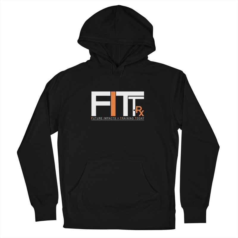 FITT-RX white logo Men's French Terry Pullover Hoody by FITT-RX's Apparel Shop
