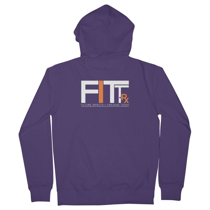 FITT-RX white logo Women's French Terry Zip-Up Hoody by FITT-RX's Apparel Shop