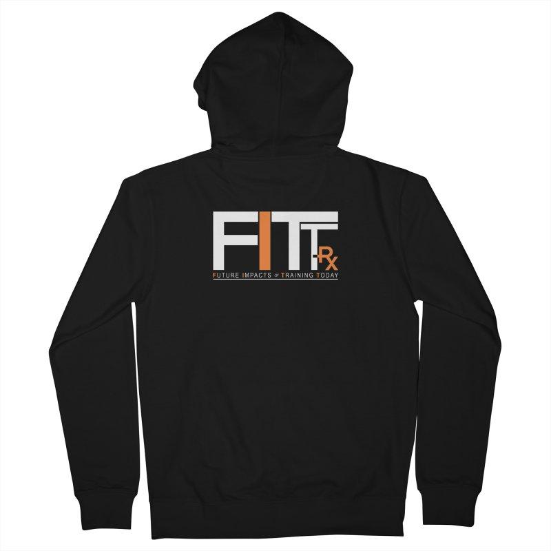 FITT-RX white logo Women's Zip-Up Hoody by FITT-RX's Apparel Shop
