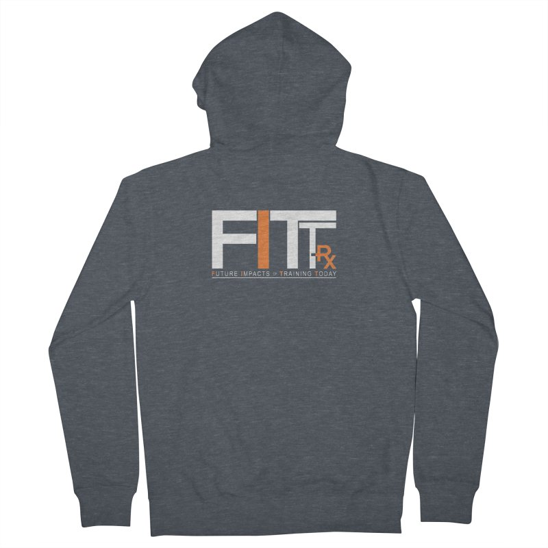 FITT-RX white logo Men's French Terry Zip-Up Hoody by FITT-RX's Apparel Shop