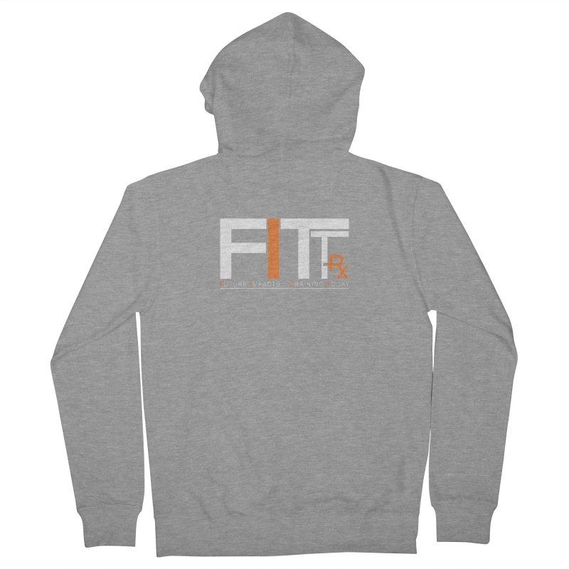 FITT-RX white logo Men's Zip-Up Hoody by FITT-RX's Apparel Shop