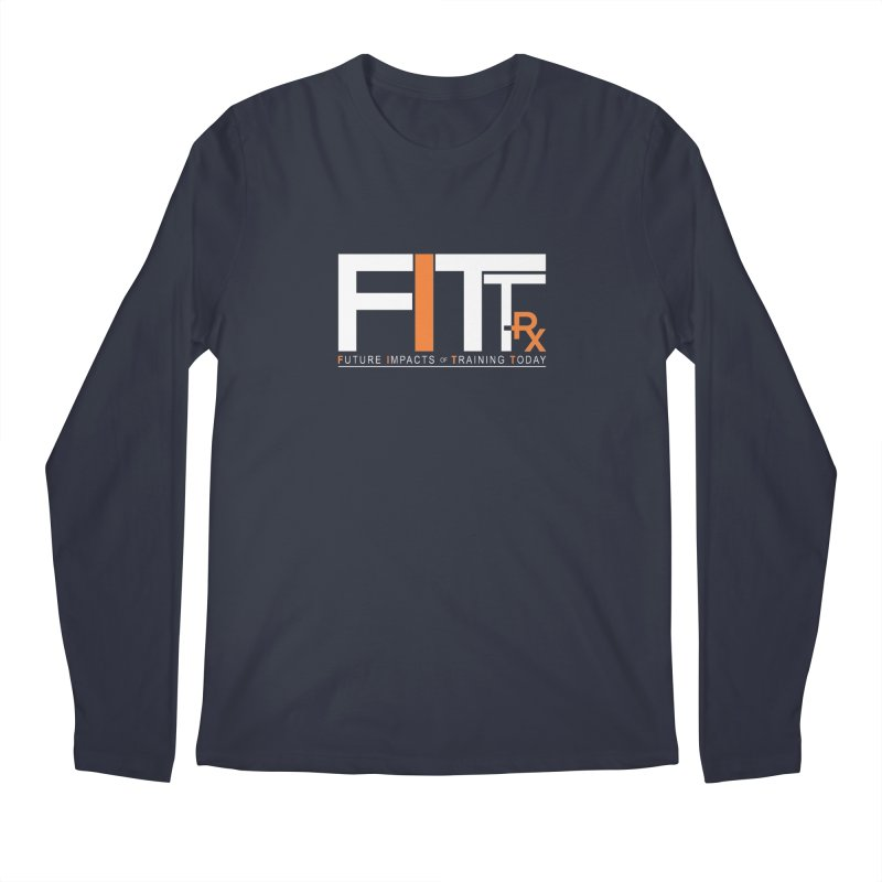 FITT-RX white logo Men's Longsleeve T-Shirt by FITT-RX's Apparel Shop
