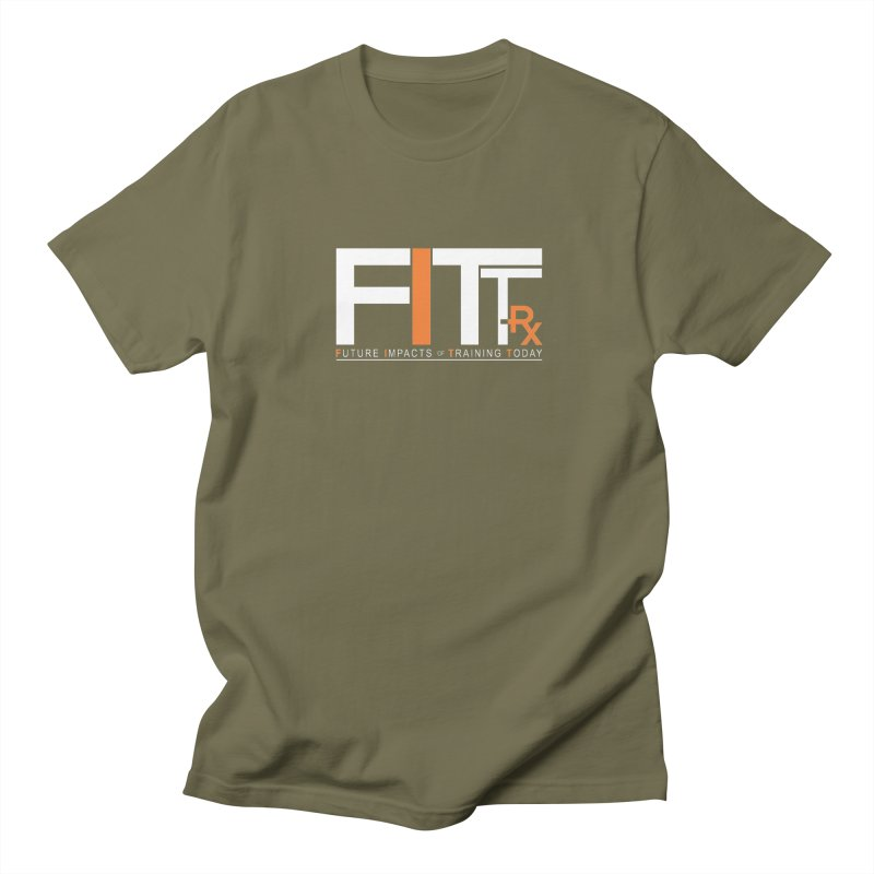 FITT-RX white logo Men's T-Shirt by FITT-RX's Apparel Shop