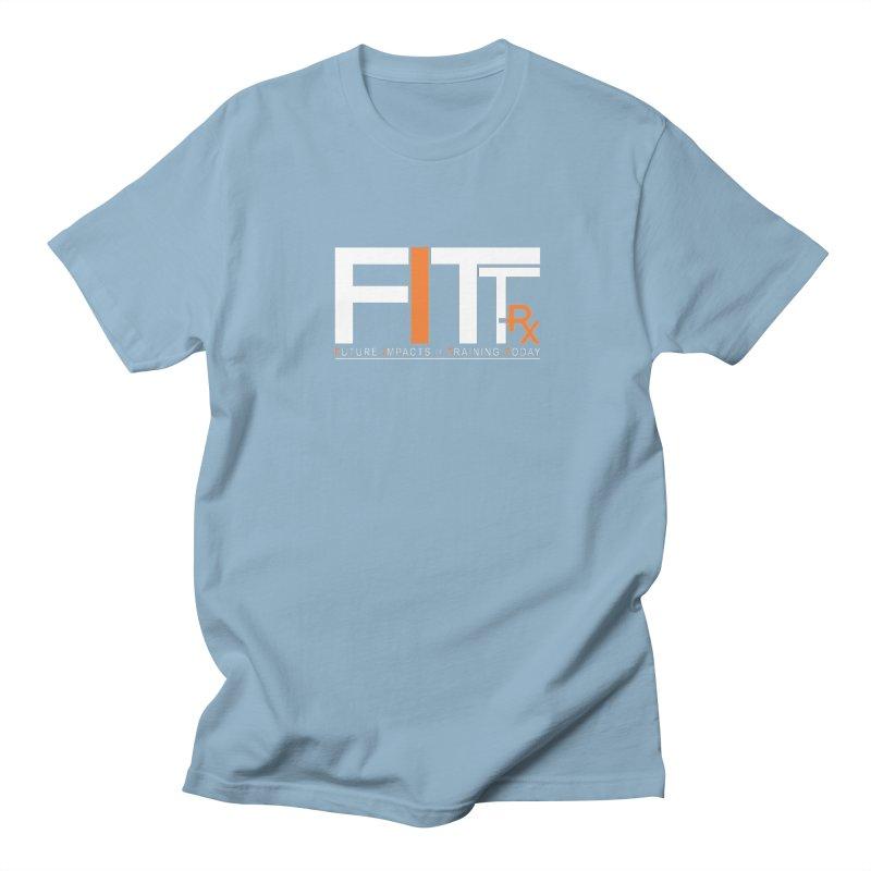 FITT-RX white logo Men's Regular T-Shirt by FITT-RX's Apparel Shop