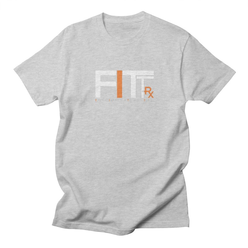FITT-RX white logo Men's Regular T-Shirt by FITT-RX's Apparel Shop