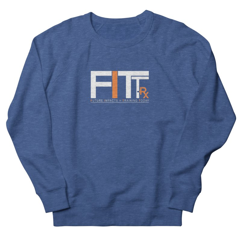 FITT-RX white logo Women's French Terry Sweatshirt by FITT-RX's Apparel Shop