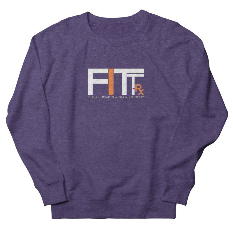 FITT-RX white logo Men's French Terry Sweatshirt by FITT-RX's Apparel Shop