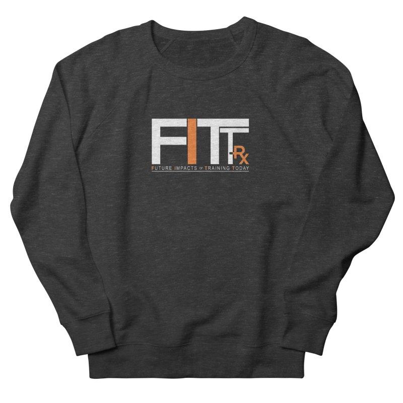 FITT-RX white logo Men's French Terry Sweatshirt by FITT-RX's Apparel Shop