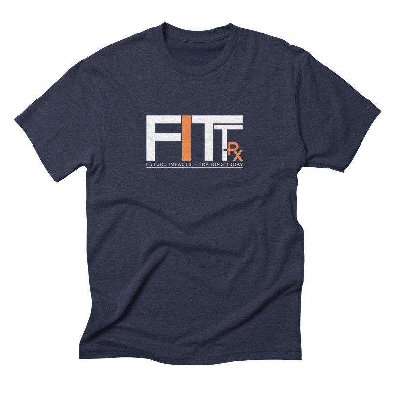 FITT-RX white logo Men's Triblend T-Shirt by FITT-RX's Apparel Shop