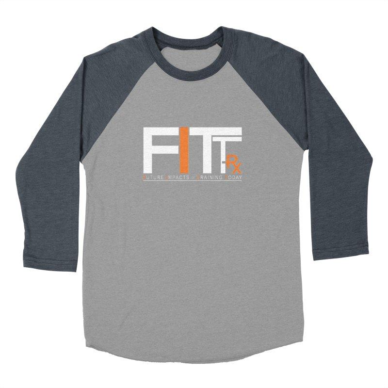 FITT-RX white logo Men's Baseball Triblend Longsleeve T-Shirt by FITT-RX's Apparel Shop