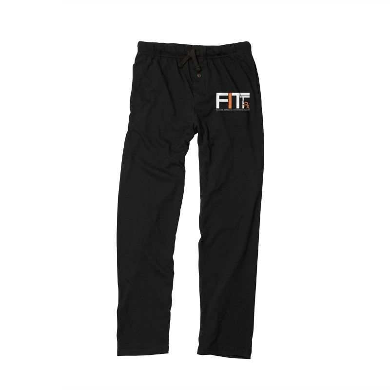 FITT-RX white logo Men's Lounge Pants by FITT-RX's Apparel Shop