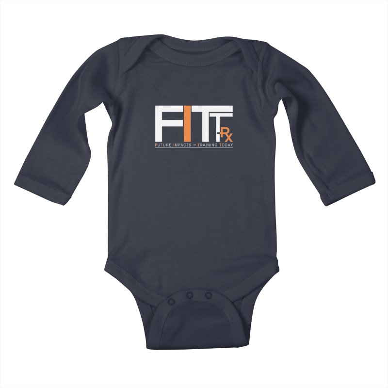 FITT-RX white logo Kids Baby Longsleeve Bodysuit by FITT-RX's Apparel Shop