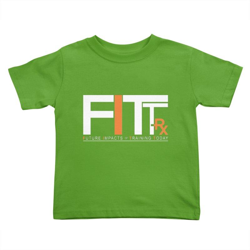 FITT-RX white logo Kids Toddler T-Shirt by FITT-RX's Apparel Shop