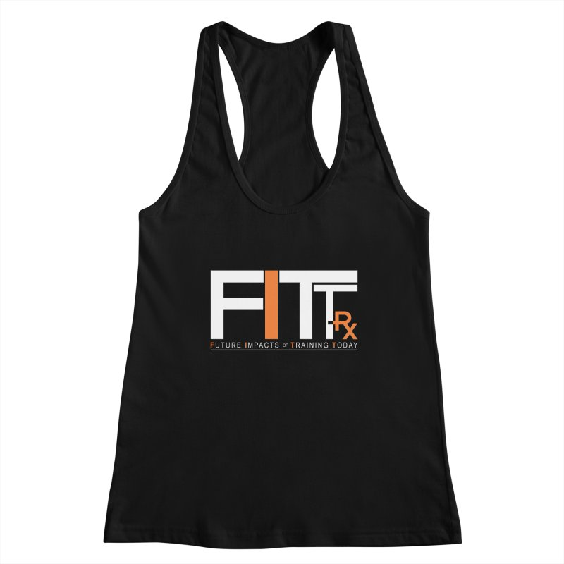 FITT-RX white logo Women's Racerback Tank by FITT-RX's Apparel Shop