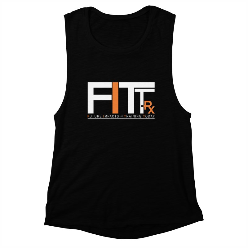 FITT-RX white logo Women's Muscle Tank by FITT-RX's Apparel Shop
