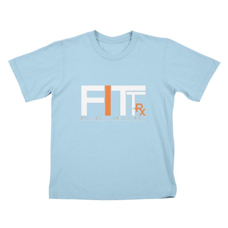 FITT-RX white logo Kids T-Shirt by FITT-RX's Apparel Shop
