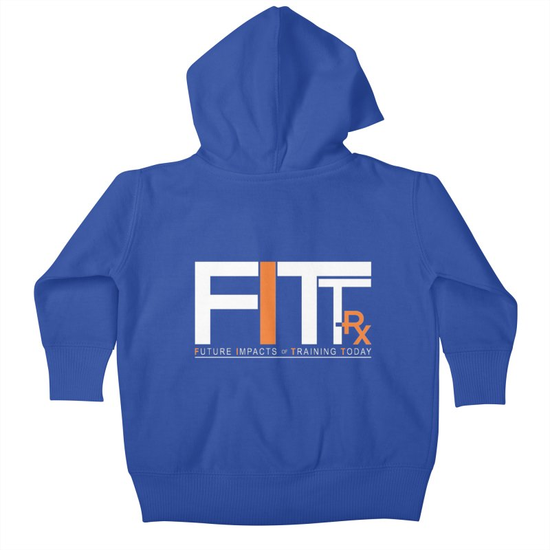 FITT-RX white logo Kids Baby Zip-Up Hoody by FITT-RX's Apparel Shop