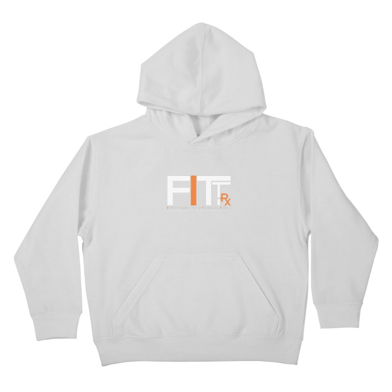 FITT-RX white logo Kids Pullover Hoody by FITT-RX's Apparel Shop