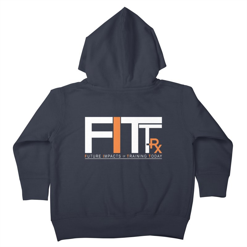 FITT-RX white logo Kids Toddler Zip-Up Hoody by FITT-RX's Apparel Shop