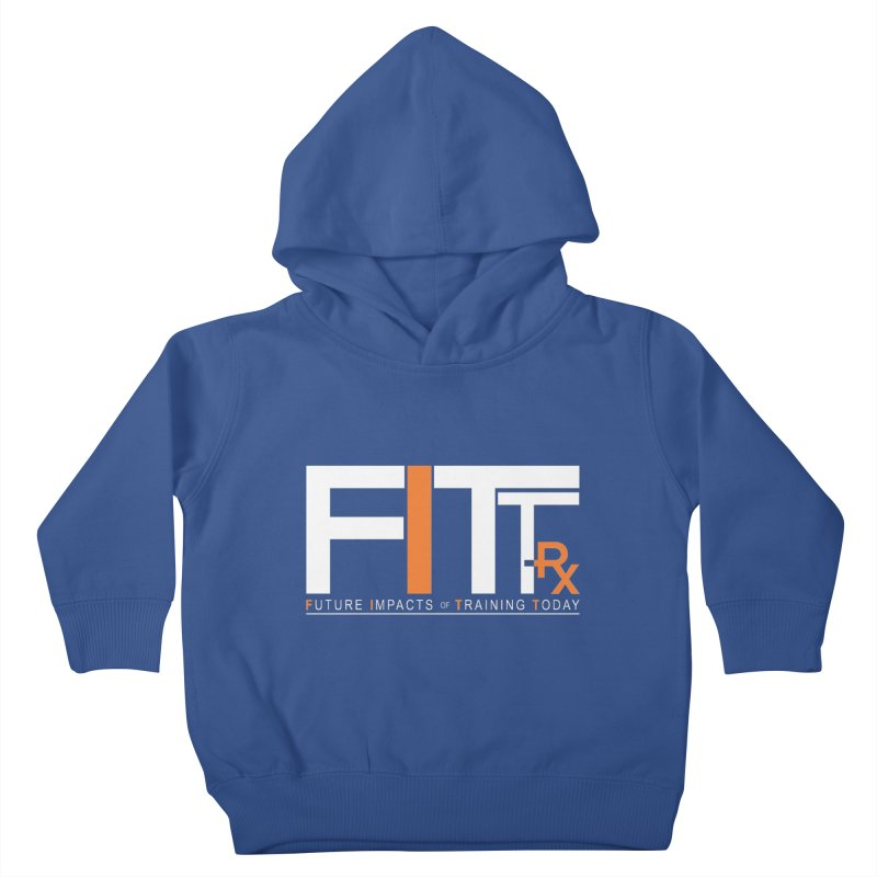 FITT-RX white logo Kids Toddler Pullover Hoody by FITT-RX's Apparel Shop