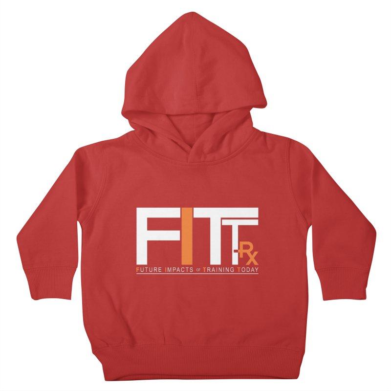 FITT-RX white logo Kids Toddler Pullover Hoody by FITT-RX's Apparel Shop