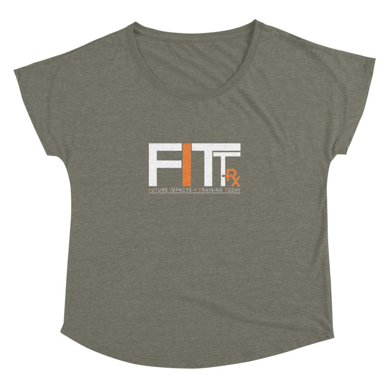 FITT-RX white logo Women's Scoop Neck by FITT-RX's Apparel Shop