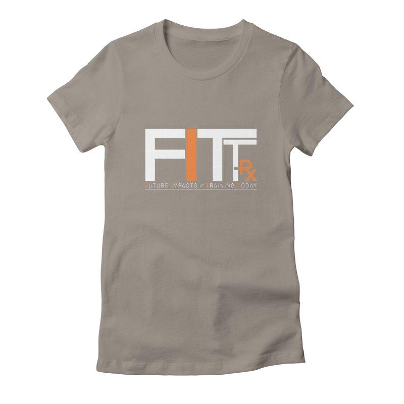 FITT-RX white logo Women's T-Shirt by FITT-RX's Apparel Shop