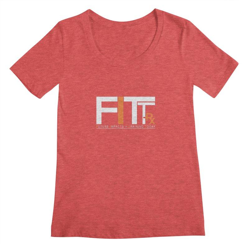 FITT-RX white logo Women's Regular Scoop Neck by FITT-RX's Apparel Shop
