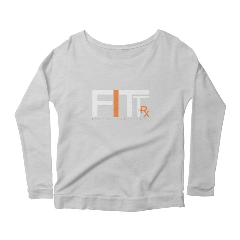 FITT-RX white logo Women's Scoop Neck Longsleeve T-Shirt by FITT-RX's Apparel Shop
