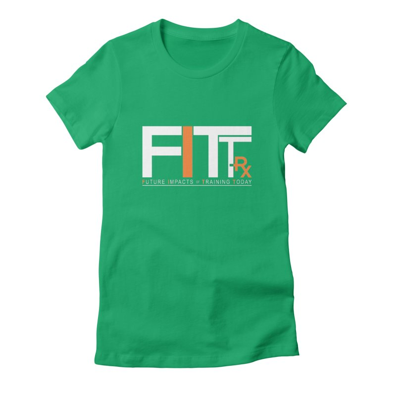 FITT-RX white logo Women's Fitted T-Shirt by FITT-RX's Apparel Shop