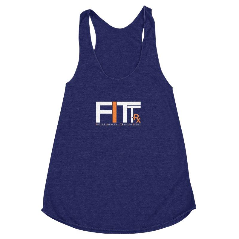 FITT-RX white logo Women's Racerback Triblend Tank by FITT-RX's Apparel Shop