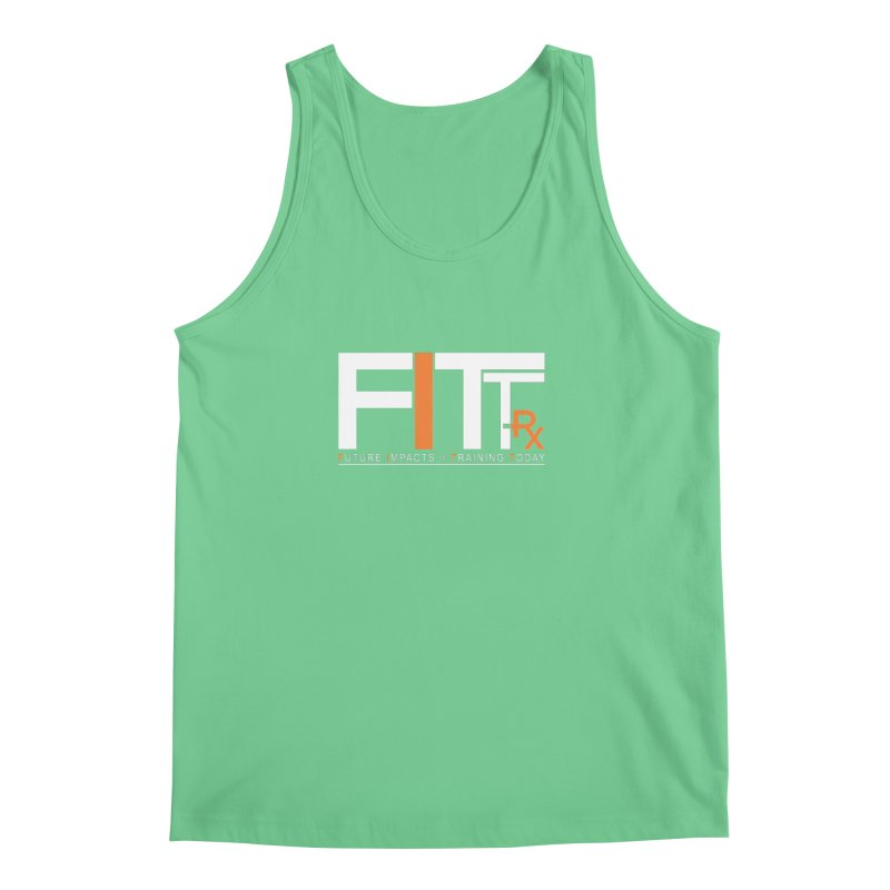 FITT-RX white logo Men's Regular Tank by FITT-RX's Apparel Shop
