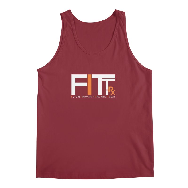 FITT-RX white logo Men's Regular Tank by FITT-RX's Apparel Shop