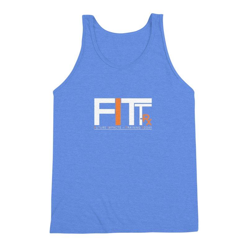 FITT-RX white logo Men's Triblend Tank by FITT-RX's Apparel Shop