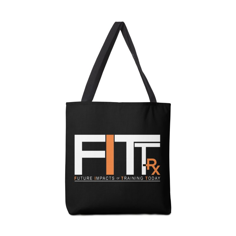 FITT-RX white logo Accessories Tote Bag Bag by FITT-RX's Apparel Shop