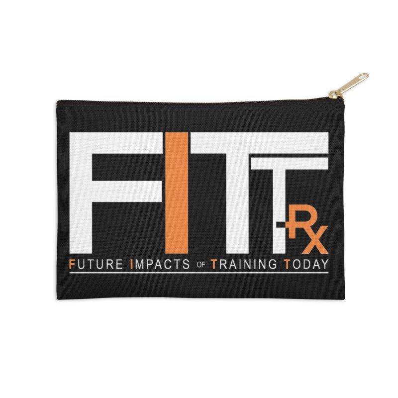 FITT-RX white logo Accessories Zip Pouch by FITT-RX's Apparel Shop