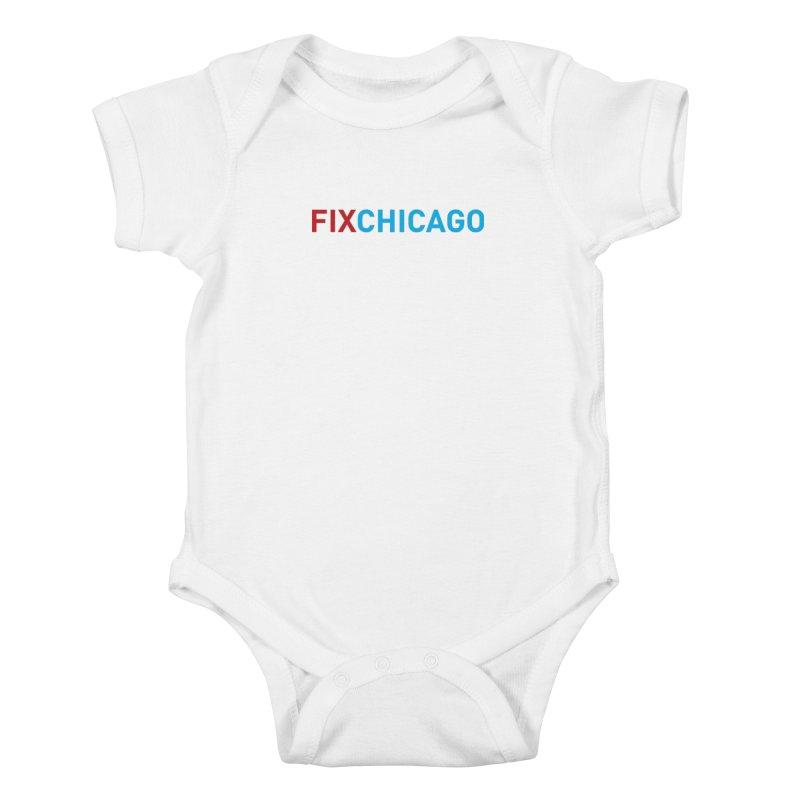 FIXCHICAGO RED/BLUE Kids Baby Bodysuit by Fix Chicago