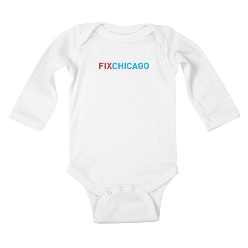 FIXCHICAGO RED/BLUE Kids Baby Longsleeve Bodysuit by Fix Chicago