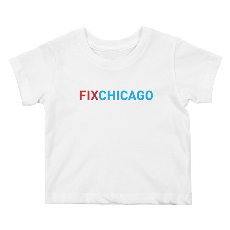 FIXCHICAGO RED/BLUE Kids Baby T-Shirt by Fix Chicago