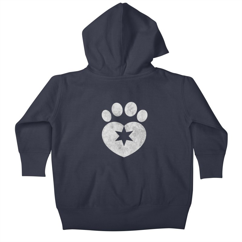 PAW BW Kids Baby Zip-Up Hoody by Fix Chicago
