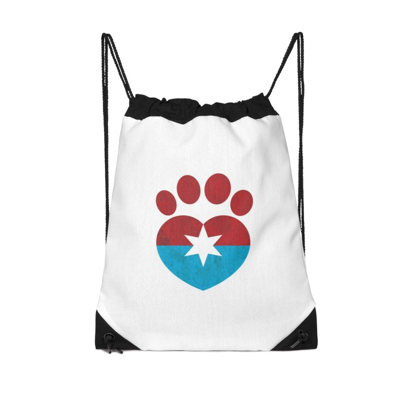 PAW RED/BLUE Accessories Bag by Fix Chicago
